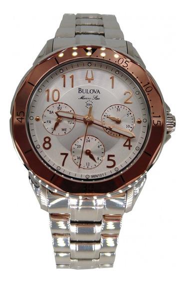 Relógio Bulova Feminino Prata/ Rose Calendário