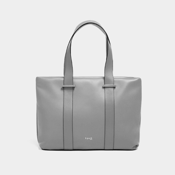 Bolsa By The Seine Large Tote Bag Lipault Magnetic Grey