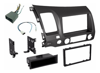 Base Estereo Frente Kit 1 O 2 Din Honda Civic Año 2006-2011