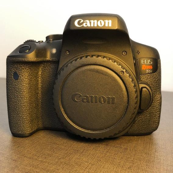 Câmera Canon T6i + Lente 50mm + Flash + Acessórios - Negocio
