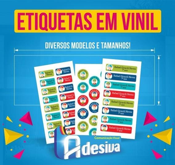 Etiquetas Vinil Geladinho, Gelinho, Din Din, Sacole 4x2 Cm