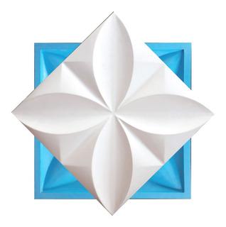 Forma Para Placas De Gesso 3d - Mosaico Floral - 30x30