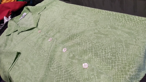 Camisa Di Moda Arreptilada Verde T L/xl