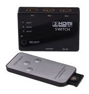 Switch 3 Hdmi A 1 Adaptador Hds103 Megalite C/ Control Remot