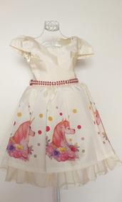 Vestido Unicórnio Festa Infantil Luxo 2465