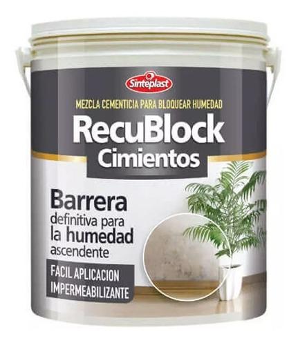 Recublock Cimientos Bloqueador De Humedad 12 Kg Mm