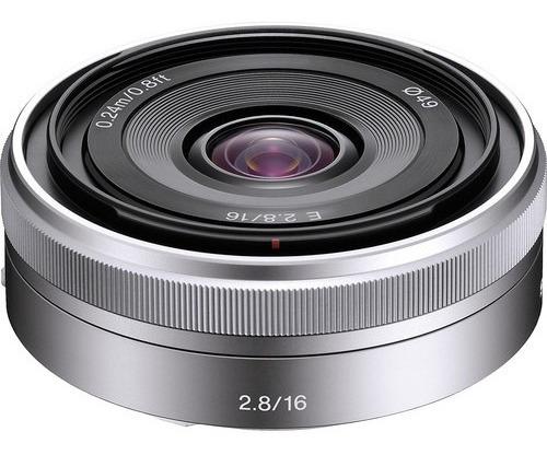 Lente Sony E 16mm F/2.8 Lens (silver) - Lacrada Na Caixa Nf