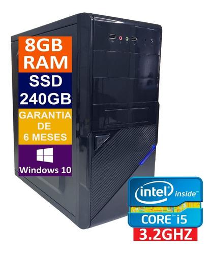 Imagem 1 de 5 de Pc Computador Cpu Core I5 3470 + Ssd 240gb + 8gb Memória Ram