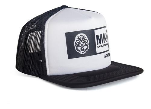 Gorras Tracker Cap Mkskateboard  Hombre Negro Logo Engomado