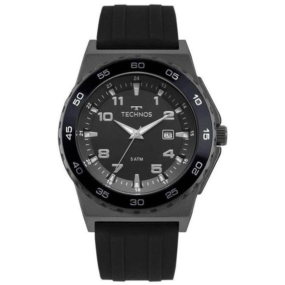 Relógio Technos Masculino Borracha Preto 2115mqo/8p