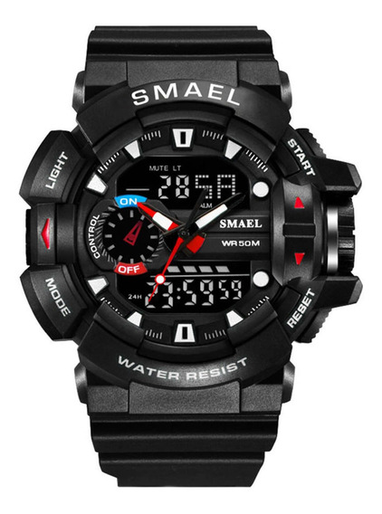 Relógio Digital De Quartzo Esportivo Masculino Blacksilver