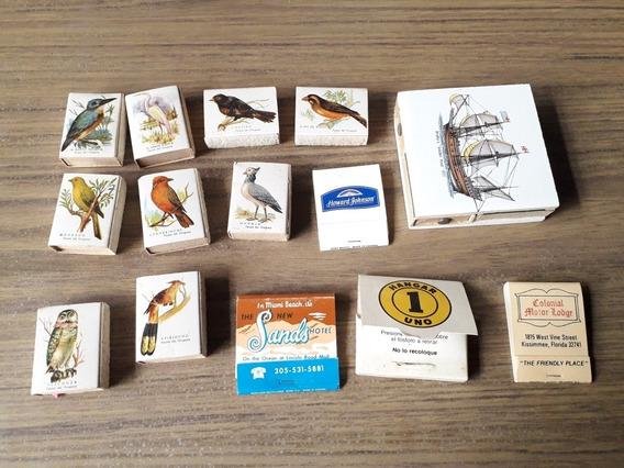 14 Cajas De Fósforos Antiguas Para Coleccionar