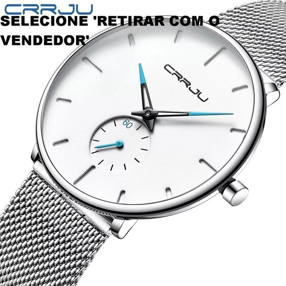 Relógios Masculinos Quartz Crrju Promoção Frete Gratis