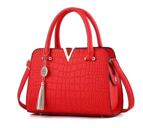 Bolsa De Luxo V - Ombro E Tira Colo (vermelho)
