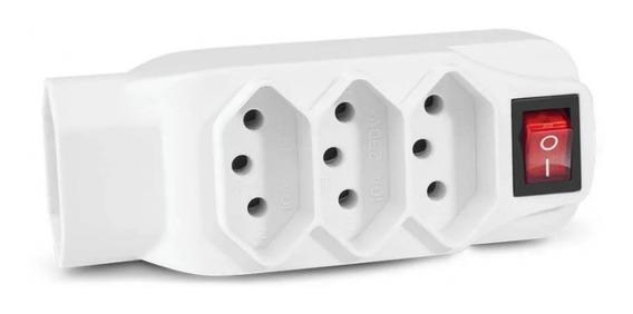 Adaptador L Multilaser De Energia 4 Tomadas Branco Wi246