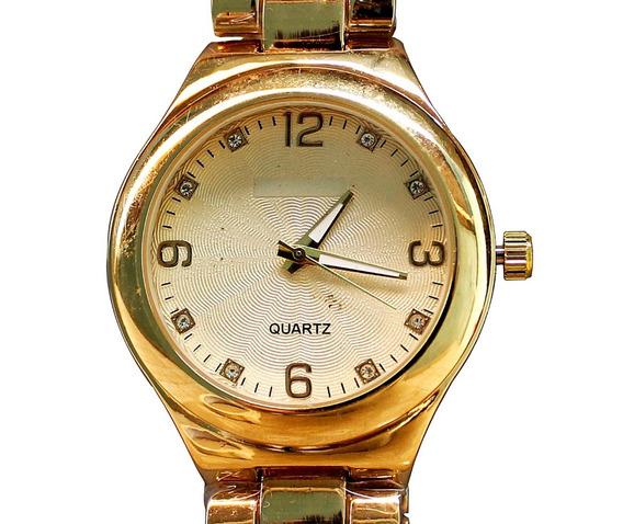 Relógio Feminino Barato Dourado Luxo Casual Moderno
