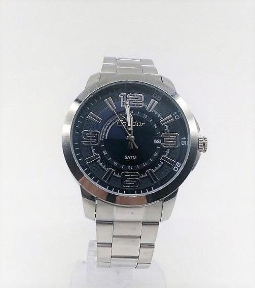 Relógio Condor Masculino Aço Prata Visor Azul Co2115yc/3a
