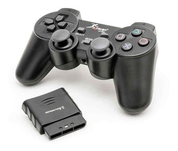 Controle Sem Fio 8 Metros Playstation 2 Vídeo Game 2.4ghz