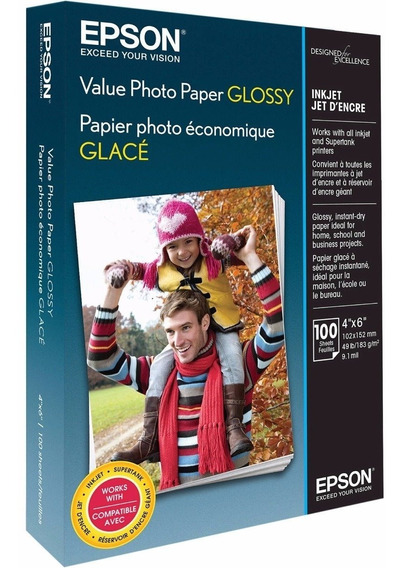 Papel Epson Brilhante Original Com 150 Folhas 10x15 - Pm225