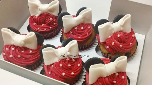 Cupcakes Decorados: Jake, Piratas, Minnie, Mickey,futbol