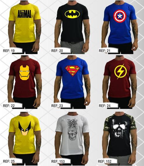 Kit 3 Camisetas T-shirt Estonado Marmorizado Raglan Bicolor