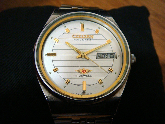 Impecable Reloj Citizen Automatic Vintage Crystal 7