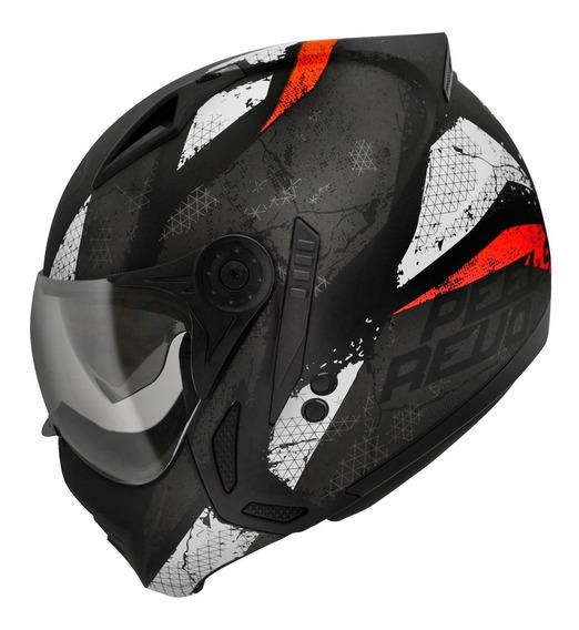 Capacete Moto Peels Mirage Revo Preto Vermelho N Ebf Tork
