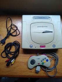 Sega Saturno Japones Completo Mais 6 Jogos Originais
