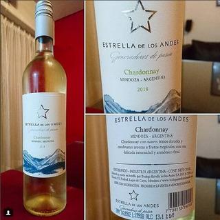 Vino Blanco Estrella De Los Andes Chardonnay