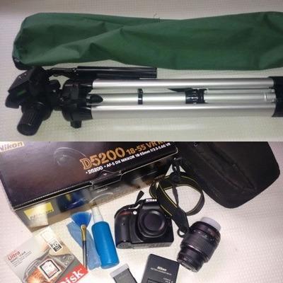 Kit Profissional (novo) - Câmera Nikon D5200 + Tripé 1.80m