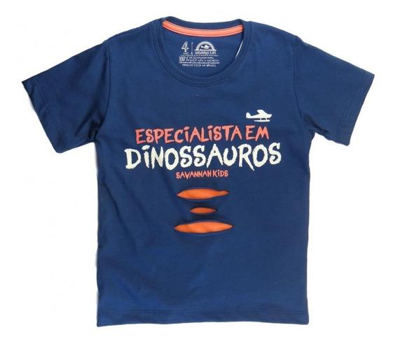 Camiseta Infantil Dino Especialista - Savannah Kids