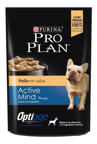 Imagen 1 de 5 de Pouch Pro Plan Senior Active Mind 100g Pollo En Salsa