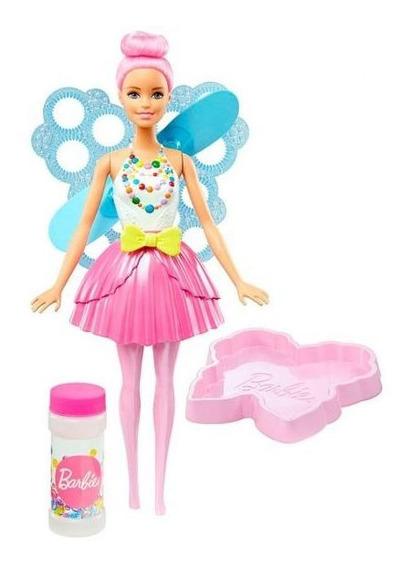 Boneca Barbie Fada Bolhas Mágicas Dreamtopia Mattel - Rosa