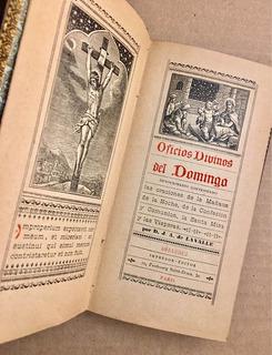 Libro Antiguo Oficios Divinos Del Domingo Oraciones El Credo
