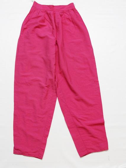 Pantalon Fuscia Tiro Alto Estilo Retro - Envios
