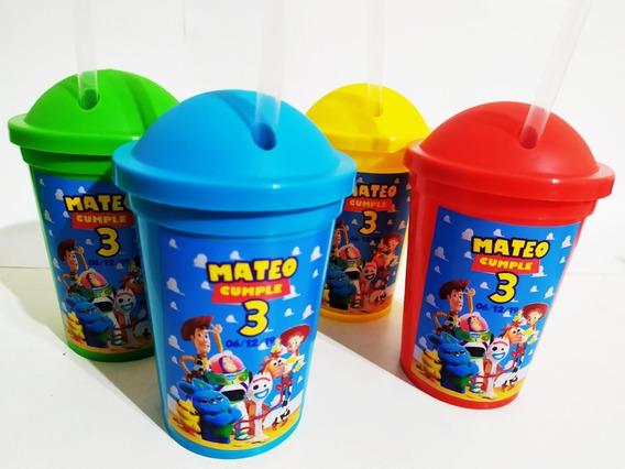Vasos Plásticos Milkshake Personalizados - Toy Story X20