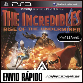 Os Incriveis 2 Rise Of The Underminer - Jogos Ps3 Digital
