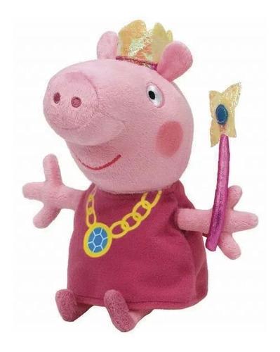 Imagem 1 de 3 de Pelúcia Peppa Pig Princesa 27cm Ty 4536 Dtc Original