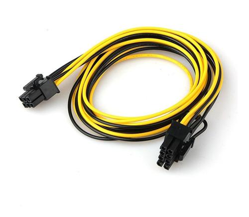 Imagen 1 de 2 de Cable Adaptador Pci-e 6 Pin Macho A 8 Pin Macho Cpu Mother