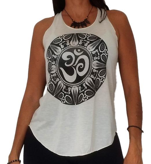 Camiseta Blusinha Feminina Regatinha Om Yoga Índia Mandala B