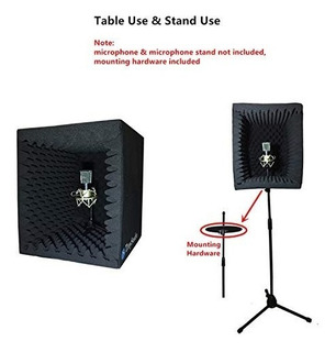 Troystudio Caja Grabación Sonido Portátil Cabina Voz Filtro