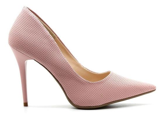Scarpin Royalz Trama Penélope Nude Rosé