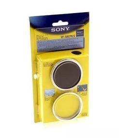 Lente Sony 58mm Mc Protetor + Polarizador Filtro De Lente