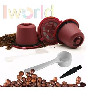 Set 3 Capsulas Reutilizable Nespresso® + Cuchara Y Pincel