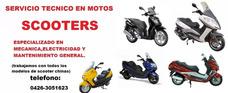 Servicio Tecnico Mecanico En Motos Scooters (a Domicilio)