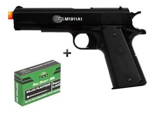 Pistola Airsoft Spring Cybergun Colt M1911 Slide Metal + Bbs