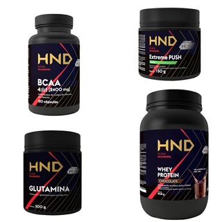 Kit Whey Protein Bcaa Glutamina Pre Treino + Brinde 12 Energ