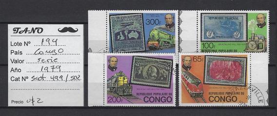 Lote194 Congo Serie Completa Año 1979 Scott#499/502