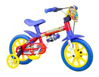 Bicicleta Infantil Aro 12 Bombeiro Fireman Nathor 2 A 5 Anos