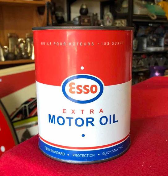 Lata Antigua De Esso Motor Oil Rep Leer Descripción
